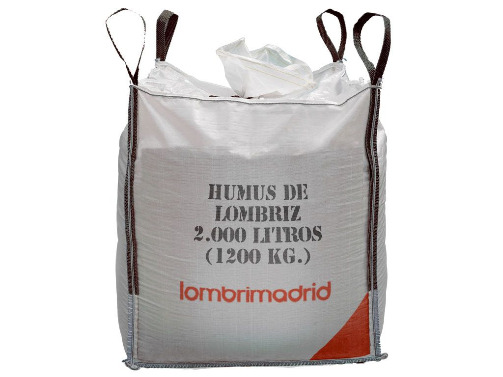 big bag saca de humus de lombriz 1200 kg 2000 litros