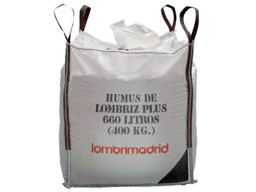 humus de lombriz plus big bag saca de 400 kg 660 litros