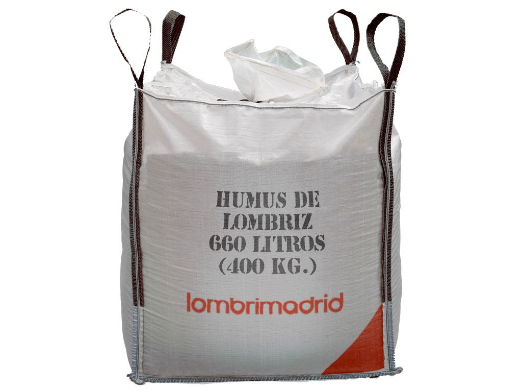 humus de lombriz big bag saca de 400 kg 660 litros